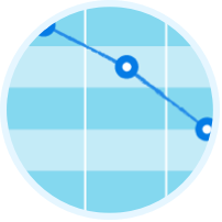 Graph showing decreasing disease burden