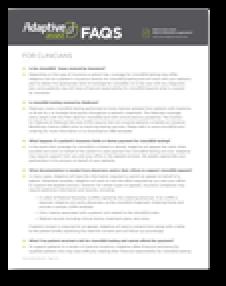 Adaptive Assist™ FAQ for Clinicians