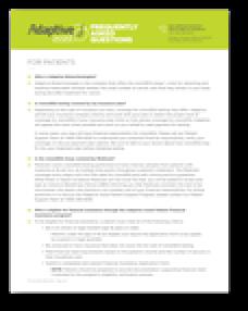 Adaptive Assist™ FAQ for Patients
